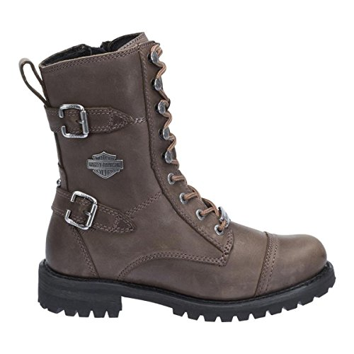 Harley Davidson Womens Balsa Stone Leather Boots 7.5 UK