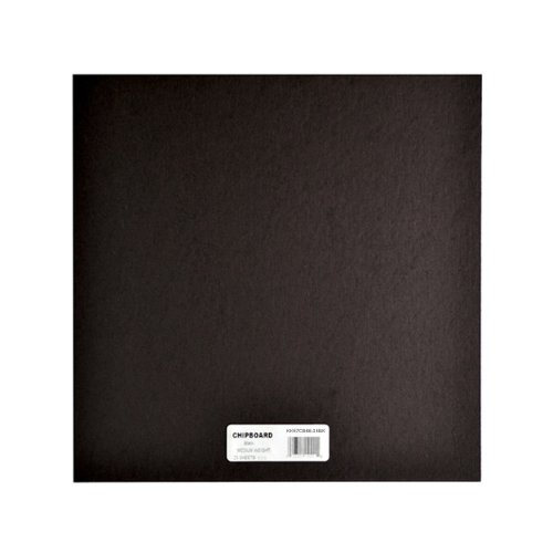 Grafix Medium Weight 6 Inch by 6 Inch Chipboard Sheets, Black, 25-Pack