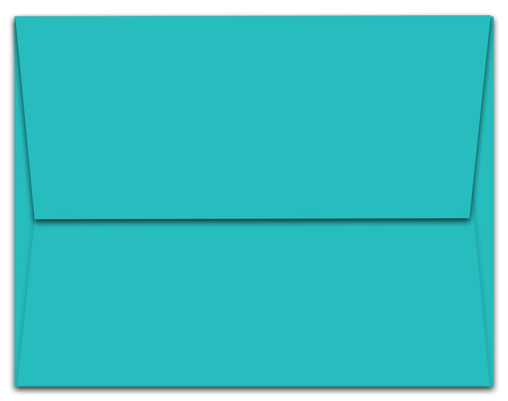 1000 -Pack Aqua Blue Ocean A6 Envelopes A6-6.5'' x 4.75'' Inch - Square Flap - for Personal or Professional Use - Great for Mailing Invitations, Greeting Cards, Thank-You Notes - by Note Card Café by Note Card Café