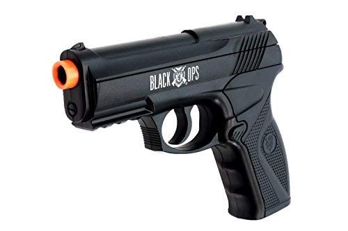 Black Ops BOA Semi Automatic Airsoft Pistol - C02 Powered Airsoft BB Pistol - Shoot 6mm BBs (Best Semi Auto Airsoft Pistol)