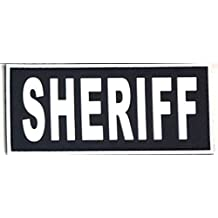 TUFF Products Sheriff PVC Patch 4.5x2in, Black with White, 4.5x2in, P-Sheriff-4.5x2-BW