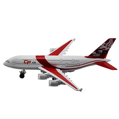 Moleya Kids Toys 20CM Airbus Emirates A380 Airplane Pull Back