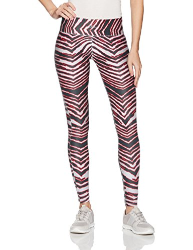 Zubaz Unisex Casual Printed Athletic Lounge Leggings, Black/Red, -