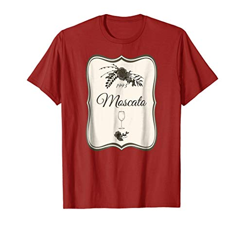 Cute Wine Bottle Halloween Costume Shirt 1993 Label Moscato -
