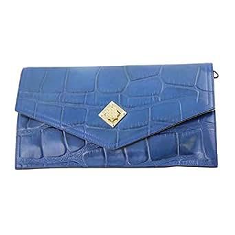 Venus Accessorie V1026166 Clutch for Women - Leather, Blue