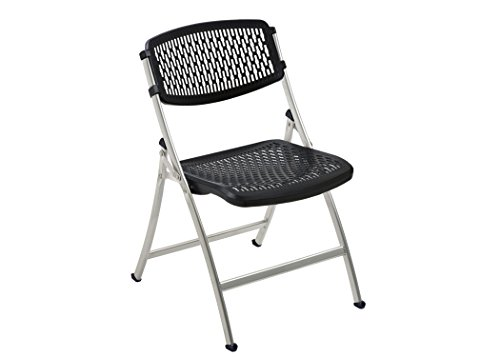 Flex One Folding Chair, Black/Silver, 4-Pack by Flex One Folding Chair