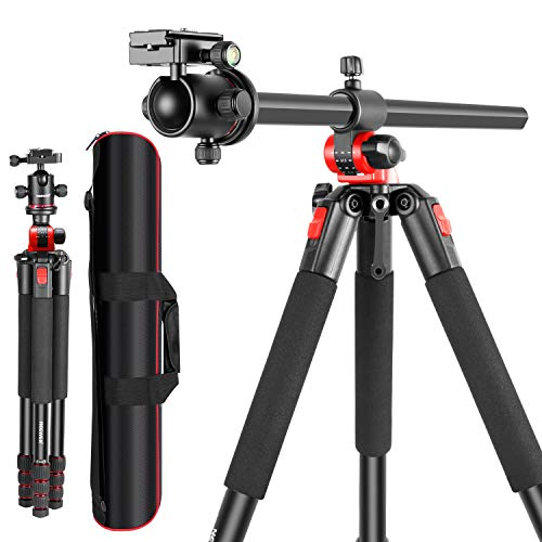 Neewer Camera Tripod with 360 Degree Rotatable Center Column and Ball Head QR Plate- 72.5 inches Portable Magnesium Aluminium 4 Section Tripods Legs for DSLR Cameras Video Camcorders up to 33 pounds (Best Portable Dslr Camera 2019)