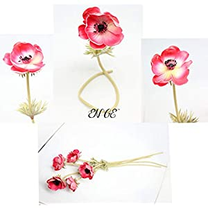 En Ge Rose Anemone Flowers with Long Stems Artificial Flower for Home Decor DIY Wedding Bouquet 2