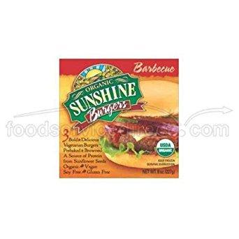 Sunshine Burger Company Organic Barbecue Burger - 12 per case.