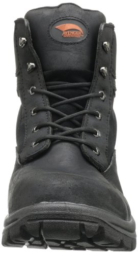 and Cordura Resistant Boot Leather Slip Toe 6 Black EH 7227 Avenger Waterproof Safety Work It1Hxc