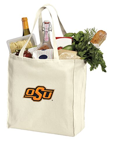 Reusable Oklahoma State Grocery Bags or OSU Cowboys Shopping Bags Natural Cotton