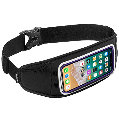 Sporteer Zephyr Slim Running Belt for iPhone X, iPhone 8, 8 Plus, Galaxy Note 9, Note 8, Galaxy S9, S9 Plus, S8, S8 Plus, Pixel 2 XL, LG, Moto, Nexus, Sony Xperia, and Other Phones & Cases by Sporteer