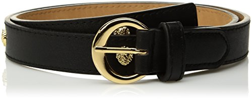 AK Anne Klein Women's 25mm Smooth Panel With Lions Accessory, -black, Medium