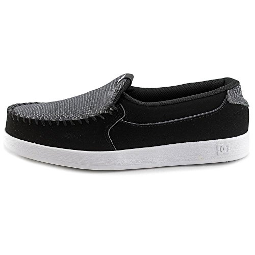 a56bd9b45eff6 DC Shoes Villain Men Round Toe Leather Black Loafer best - ferre-maq ...