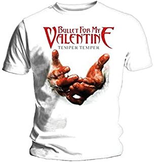 Bullet For My Valentine BFMV Mens XXL T Shirt White Temper Temper Blood  Hands