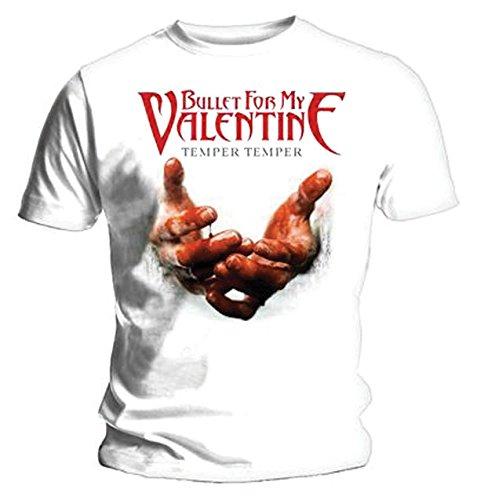 Bullet For My Valentine Temper Temper Blood Hands Official Mens Black T Shirt