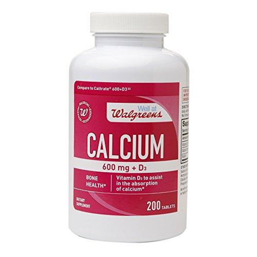 Walgreens Calcium 600 mg + D3, Tablets (200 ea)