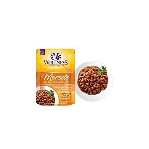 (Wellness Healthy Grain Free Cat Food Morsels Chicken and Salmon Savoury Gravy (85g))