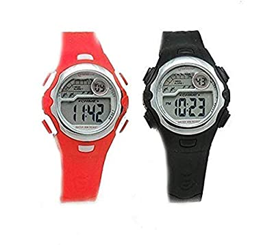 2 Pack Children's black and Red Sports Digital Watches by CHINA