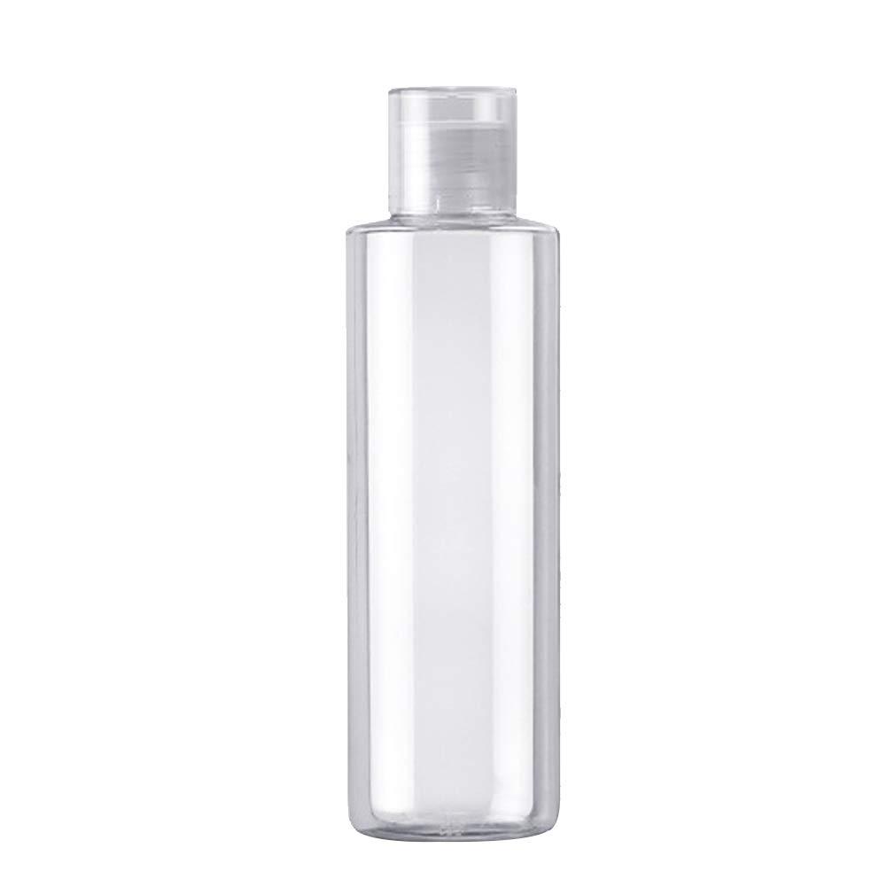 WDOIT - Bottiglia Trasparente per Cosmetici, Ricaricabile, per Prodotti di Pulizia, flacone per Shampoo, balsamo lozione per Toilette, 250 ml, 120ml, 120ml