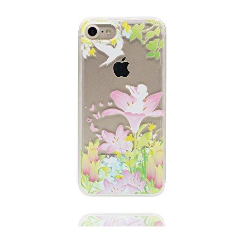 """Coque iPhone 7, Cover étui pour iPhone 7 4.7"""", Bling Bling Glitter Fluide Liquide Sparkles Lis Paillettes Flowing Brillante, iPhone 7 Case, anti-chocs"""