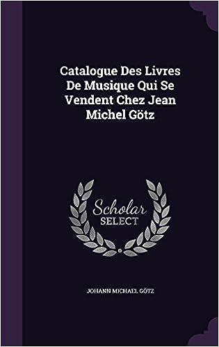 Catalogue Des Livres De Musique Qui Se Vendent Chez Jean