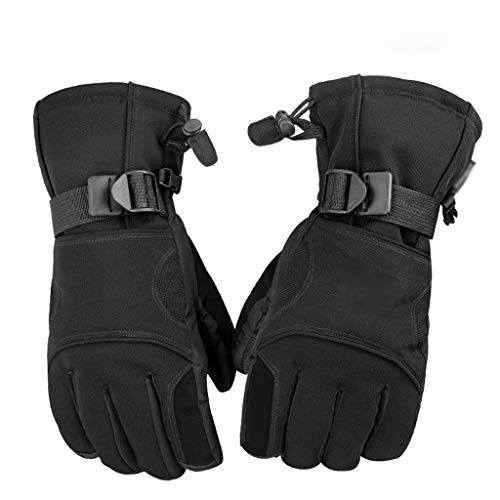 QIANDING shoutao PU Snowboard Gloves Snowmobile Motorcycle Riding Winter Gloves Men and Women Snow Gloves