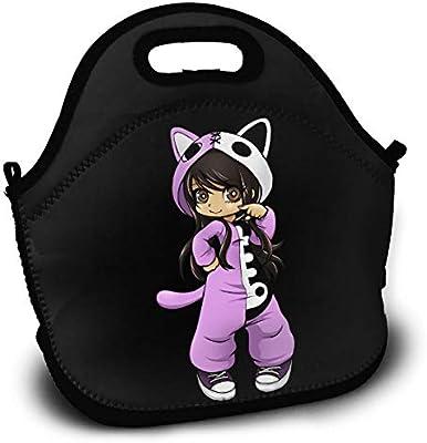 b9541bd5e17f Amazon.com - Sunmoonet Lunch Tote Bag Aphmau Gaming Bento Lunch Bag ...
