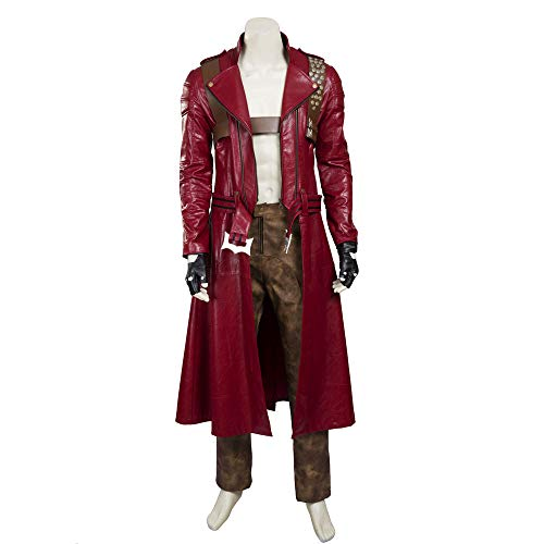 Costory Men's Devil May Cry 3 Dante Cosplay Costume Leather -