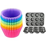Amazon Basics Nonstick Muffin Baking Pan, 12 cups