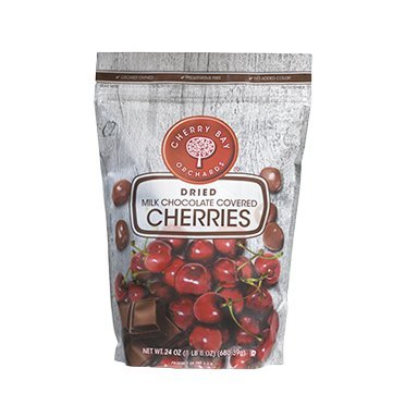Milk Chocolate Covered Dried Cherries (Case of 8 - 24oz bags) by Cherry Bay Orchards
