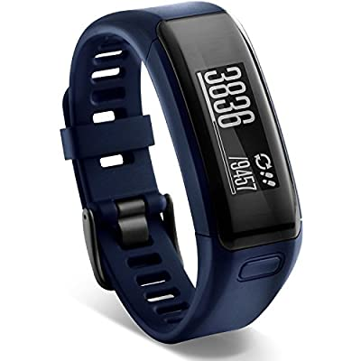 Garmin Vivosmart HR Activity Fitness Tracker Wrist-Based Heart Rate Monitor - Blue (Certified Refurbished)