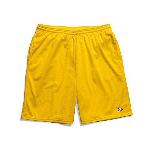 Champion Men's Long Mesh Short with Pockets, Team Gold, XXXX-Large by Champion