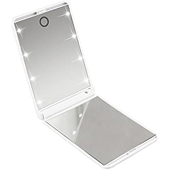Amazon Com Makeup Mirror With 8 Dimmable Enhanced Led