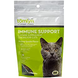 Tomyln Immune Support L-Lysine Supplement Chews for Cats, 30 ct