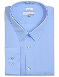 Men's Stout Fit Long Sleeve Dress Shirt - Colors - All Sizes