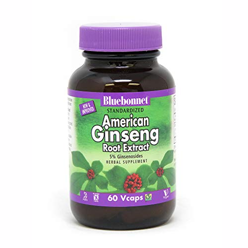 BlueBonnet American Ginseng Root Extract Supplement, 60 Count