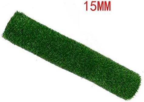 XEWNEG 15MM高、暗号化された人工芝、屋外/庭の装飾的なフェイクマット、排水穴付きアンチエイジング合成芝生 (Size : 2×10m)