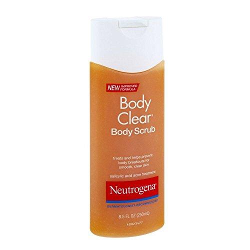 Neutrogena Body Clear Body Scrub, 8.5 Fluid Ounce Pack of 4