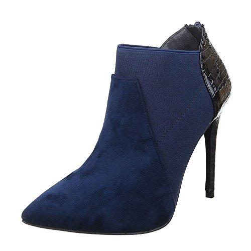 Ital-Design , Bottes à enfiler femme Bleu