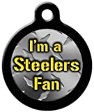 Steelers Fan - Custom Pet ID Tag for Dogs and Cats - Dog Tag Art