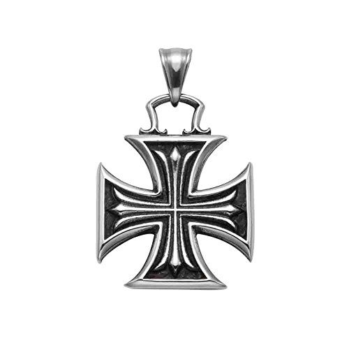 Stainless Steel Maltese Cross Pendant