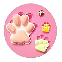 FMY Cartoon Big Foot Paw Footprint Fondant Cake Molds Chocolate Mold Soap Mould For The Kitchen Baking