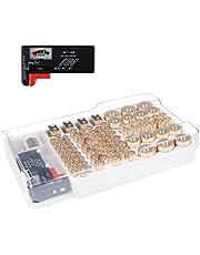 Batterij Organizer, Batterijen Storage Case bevat 93 verschillende grootte batterijen voor AAA, AA, 9V, platte batterijen, C en D grootte met verwijderbare batterij Tester van Makerfire (batterijen niet inbegrepen)