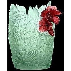 Hibiscus Oval Vase