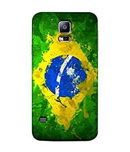 ColorKing Football Brazil 04 Multi Color shell case cover for Samsung S5