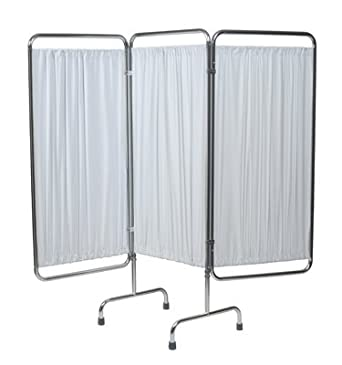 grafco 4297w folding privacy screen 3 section