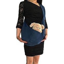 Pet Sling Carrier, Kuoser Hands-free Dog Pet Sling Bag Shoulder Carry Bag Sling Pet Carrier Pouch, Single Shoulder Carry Tote Handbag for Pets,Peacock