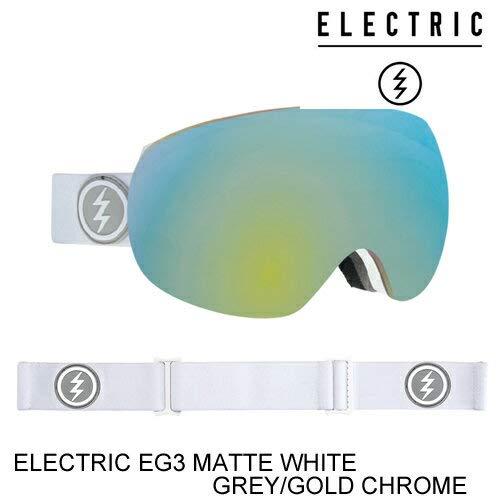 ELECTRIC エレクトリックゴーグル ジャパンフィット EG3 MATTE 白い グレー/ゴールド CHROME スノーボード ゴーグル