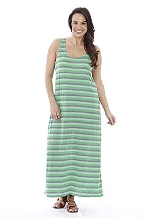 Just Love 2092XX-13AO-GRN-1X Plus Size Summer Dresses/Maxi